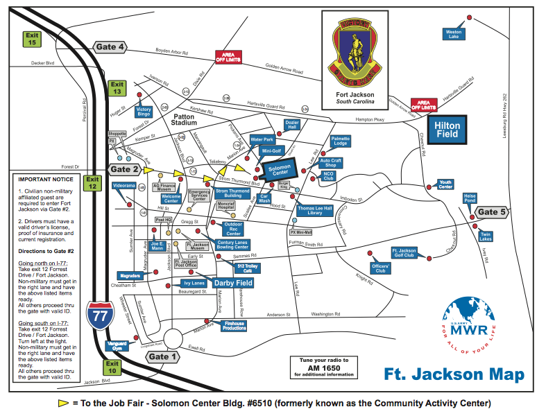 Fort Jackson Map Map of Fort Jackson | Fort Jackson | Jackson family, Jackson, Map