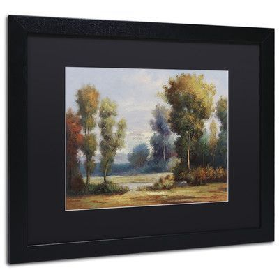 "Trademark Art ""Memory Lane"" by Daniel Moises Matted Framed Painting Print Size: 16"" H x 20"" W x 0.5"" D"