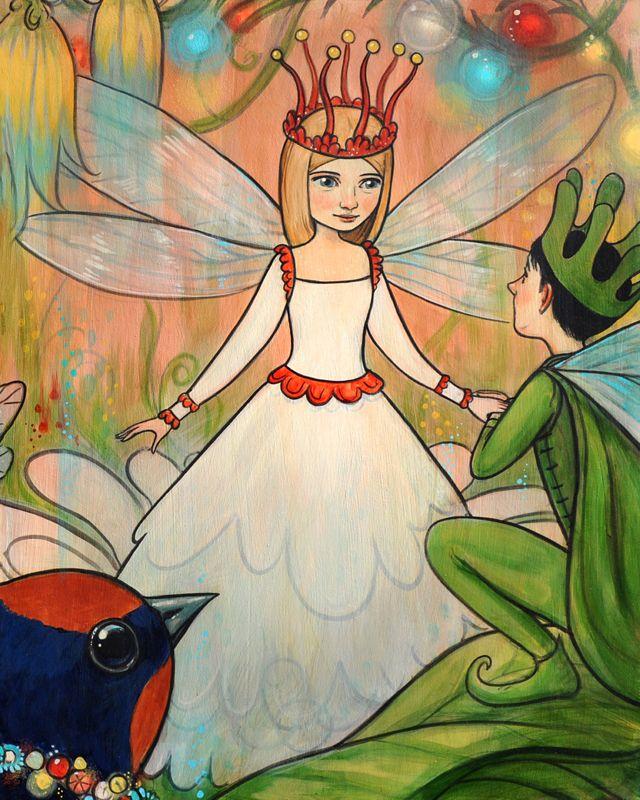 Дюймовочка принц эльфов картинки