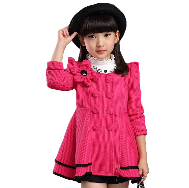 1f38b3063587 Nov 11 High quality girl Coat fashion Flower Jacket coat for girl ...