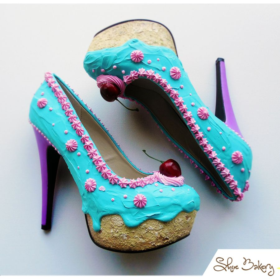 19da4f4653517 Designer expertly paints mouthwatering shoes that look like cakes ...