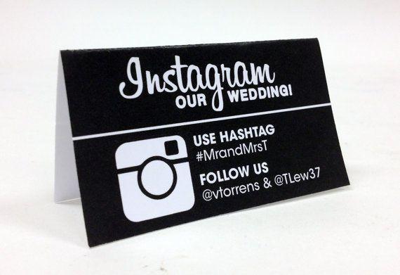 DIY Printable Wedding Instagram Table Card