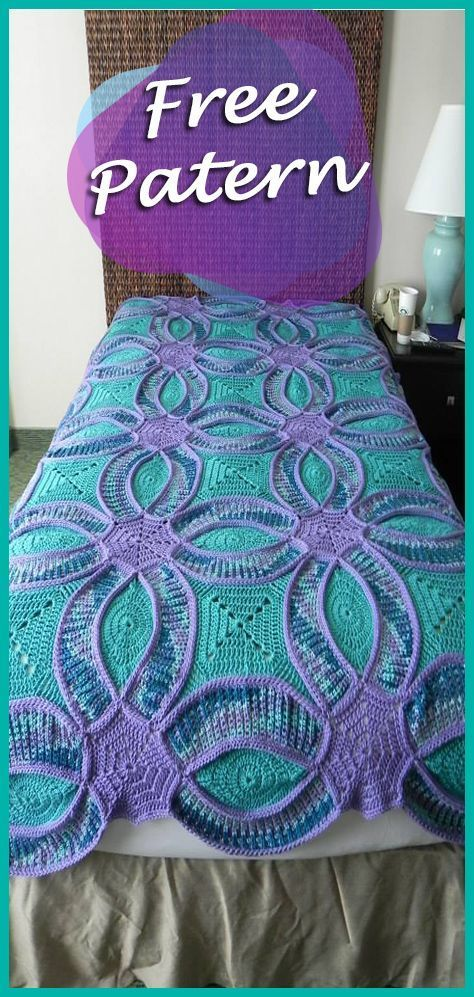 Patchwork Quilt Crochet Free Pattern Wedding Ring Quilt