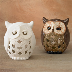 Gare Bisque Owl Lantern Ceramic Arts Owl Pottery Ceramic Owl Pottery Painting