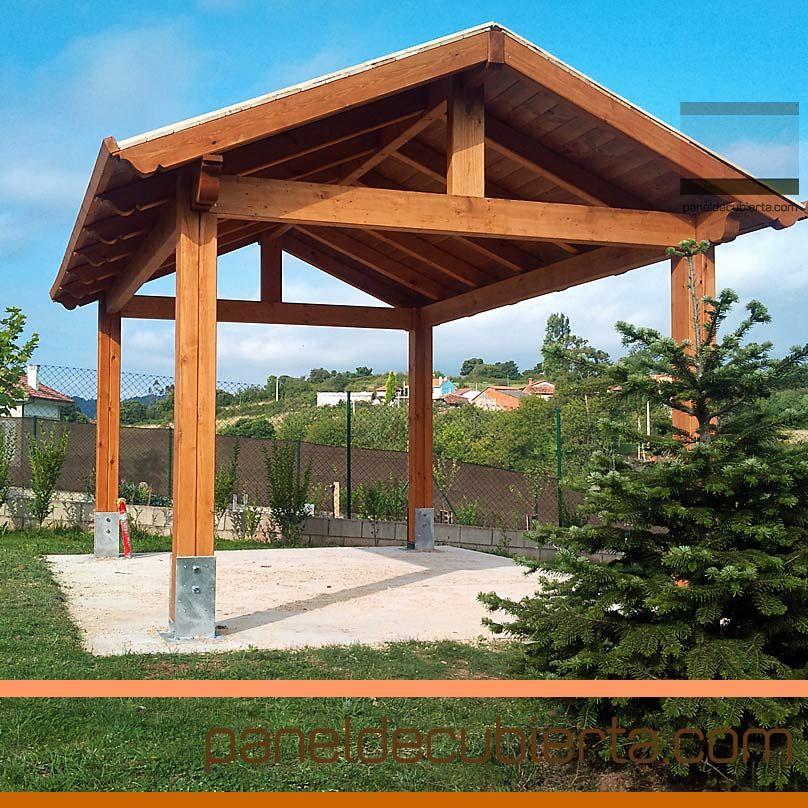 Estructura para cenador panel sandwich de madera para tejados pinterest verandas - Estructuras de madera para tejados ...