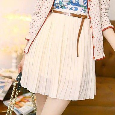 YiFanYiGui ™ de la vendimia de las mujeres elásticos de la alta cintura de la gasa falda plisada – USD $ 9.09