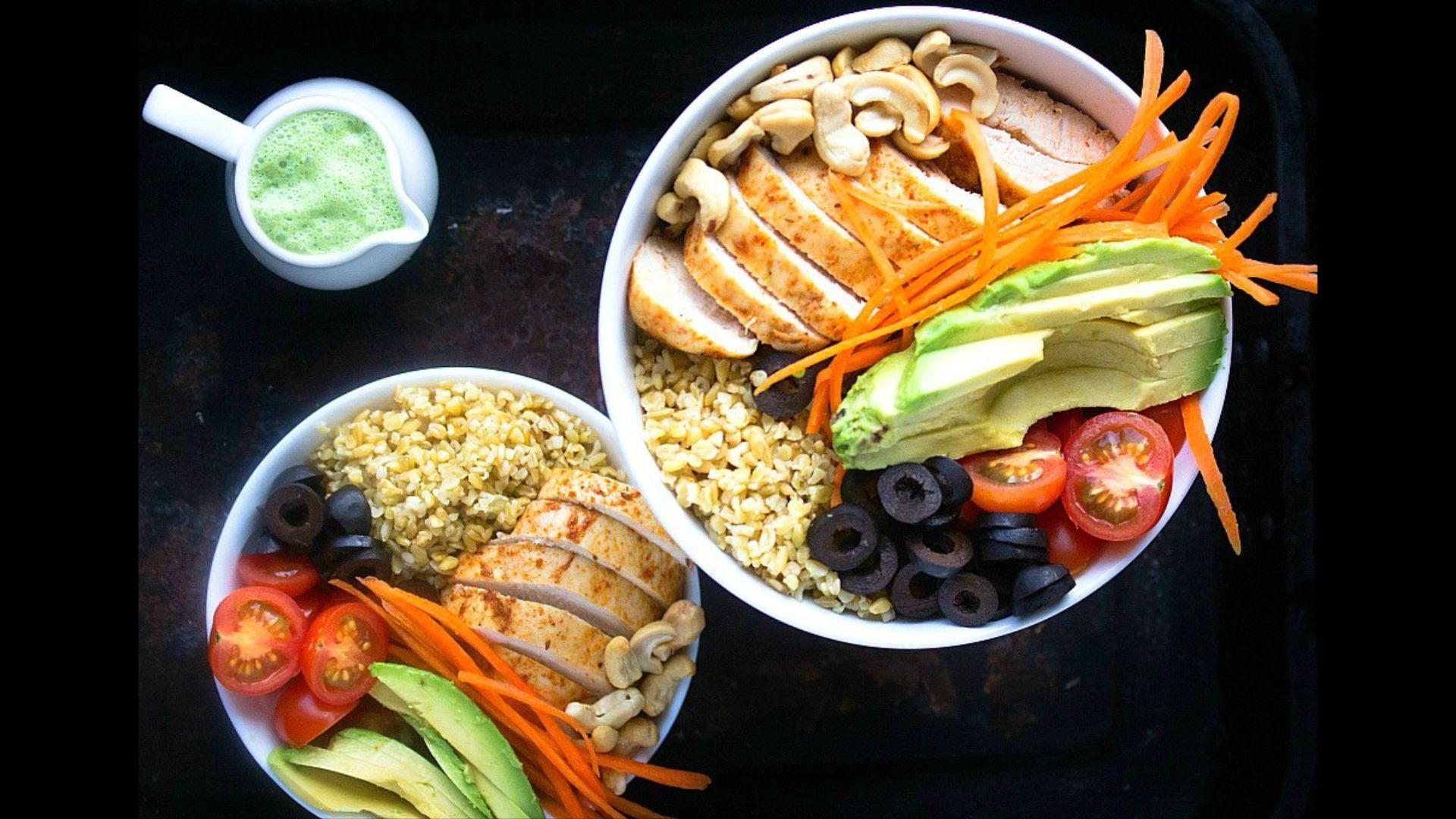 Healthy Chicken Bowl #healthychicken #healthybowls