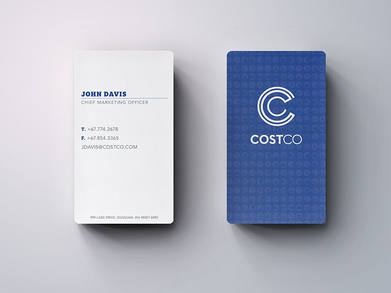 Costco Rebrand Business Cards | Costco, Business cards and Business