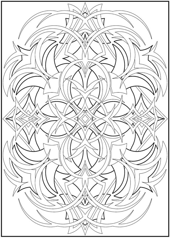 Welcome to Dover Publications Creative Haven 3-D Abstracts Coloring ...