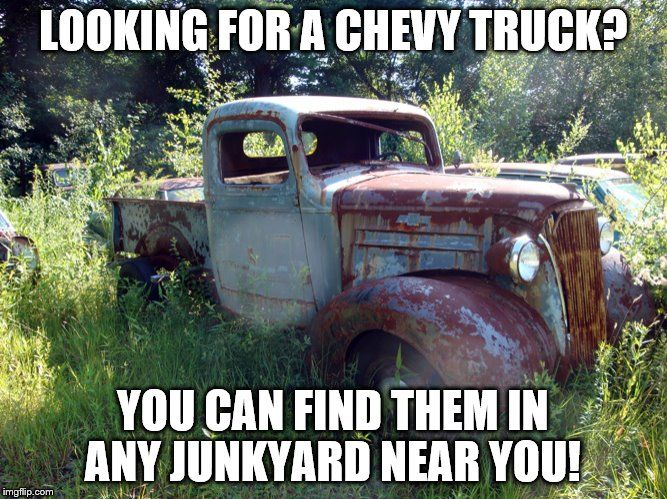 FORD vs Chevy: Look for the Chevy in the junkyard ...