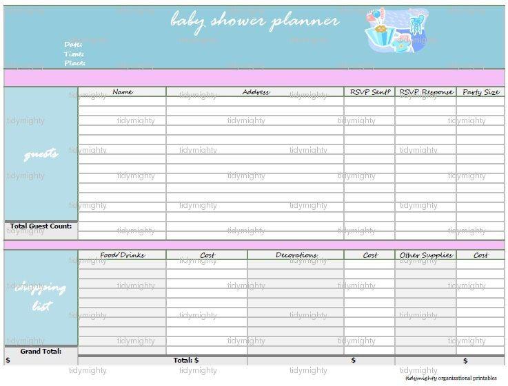 Baby Shower Planner | Storage/Organizing | Pinterest | Baby shower ...