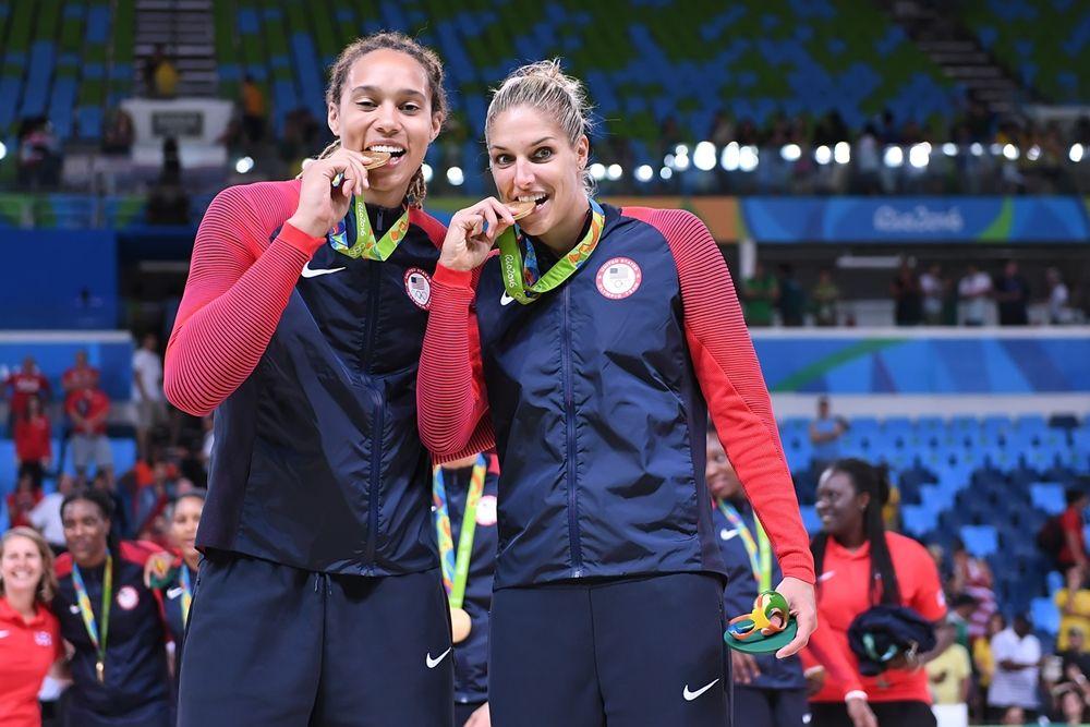 11 Elena Delle Donne (USA), 15 Brittney Griner (USA)   Olympic basketball,  Womens basketball, Women