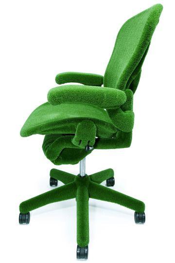 very green Aeron chair.