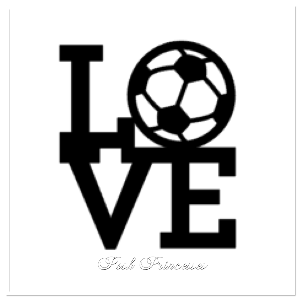 Love Soccer Sports Vinyl Decal Car Window Decal Laptop Sticker White - Soccer custom vinyl decals for car windows