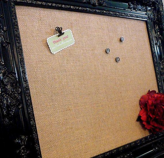Black Memo Board Ornate Framed 28 x 34\