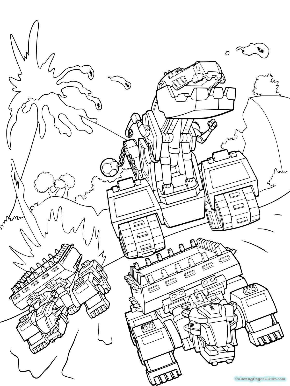 Dinotrux Coloring Dinosaurs Pages
