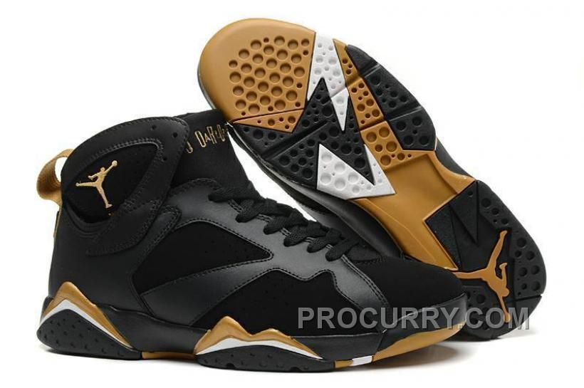 reputable site daee7 aad7c Authentic Cheap Air Jordan 7 Shop with Confidence Authentic Cheap Air  Jordan 7 (VII) Black Metallic Gold-Sail For Sale