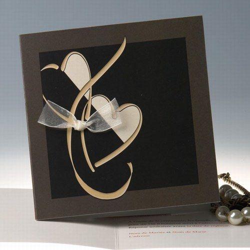 faire part mariage avec ruban romantique faire part. Black Bedroom Furniture Sets. Home Design Ideas