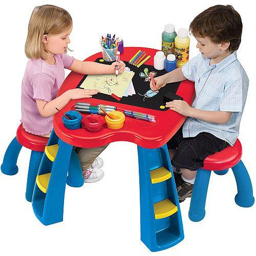 Crayola Creativity Play Station Desk & Chair Set: Pretend Play, Arts ...