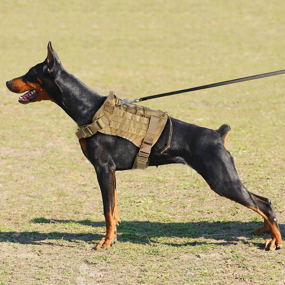 Military Tactical Dog Harness Training Vest K9 Working Water Resistant Harness Training Running For Large Do Tactical Dog Harness Dog Training Vest Dog Harness