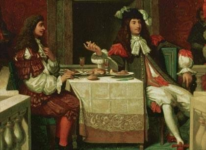 Louis XiV of France dining with Molière by Ingre