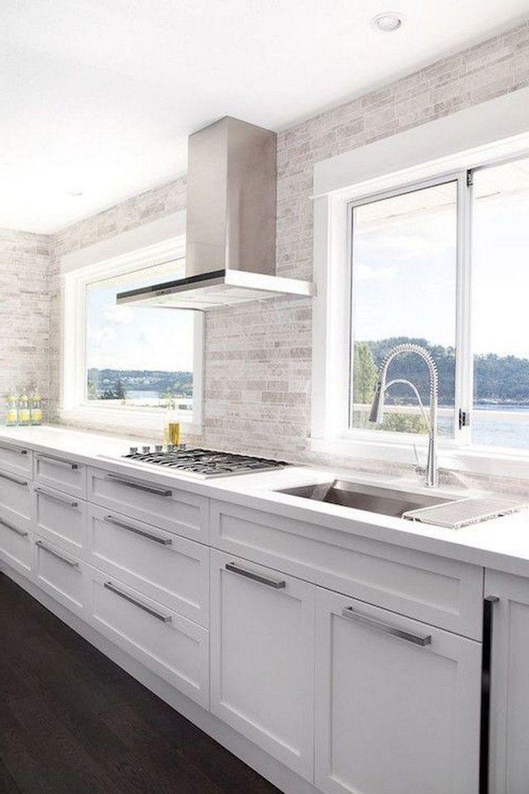 35+ Elegant White Kitchen Backsplash Design Ideas ...