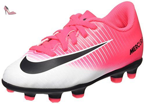 Nike Jr Mercurial Vortex Iii Fg, Chaussures de Football Mixte Enfant, Rose  (Racer