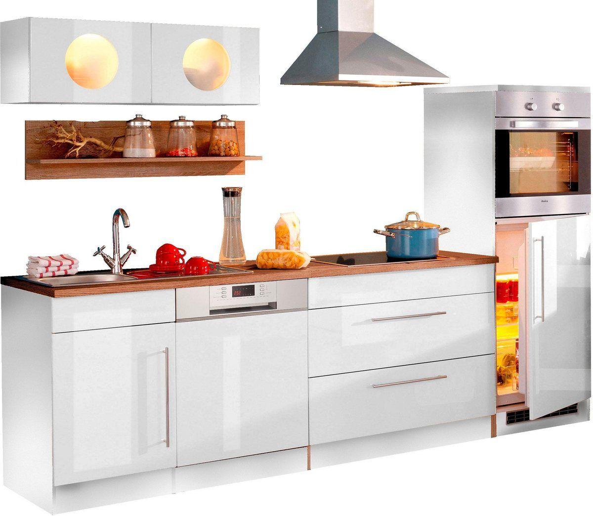 HELD MÖBEL Küchenzeile »Keitum«, mit EGeräten, Breite 270