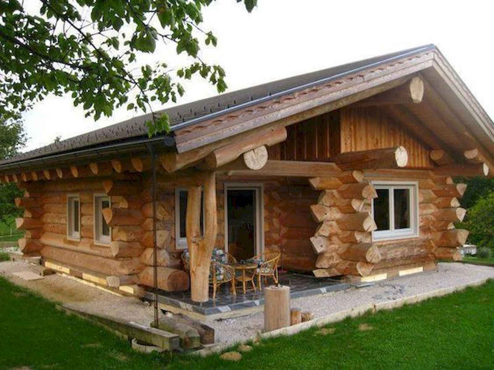 75 Best Log Cabin Homes Plans Design Ideas 47 Rumah Kayu Gelondong Rumah Kayu Rumah Balok Kayu
