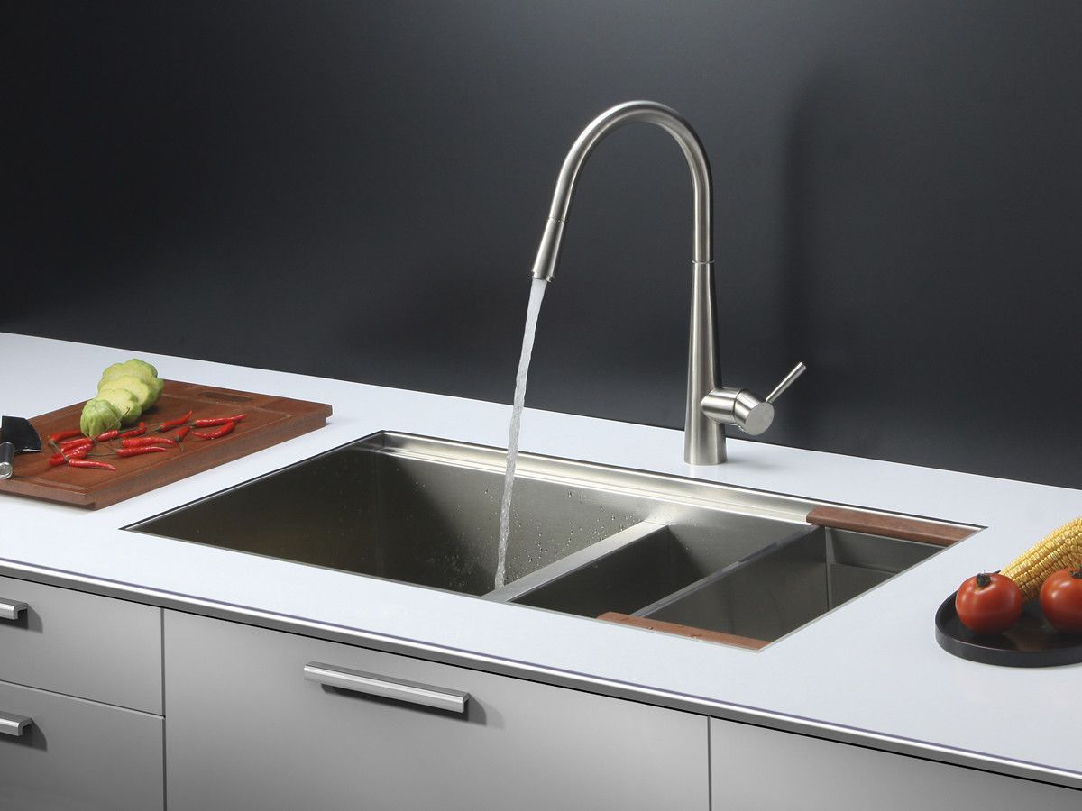 Ruvati 33 X 19 Kitchen Sink With Faucet Plateros