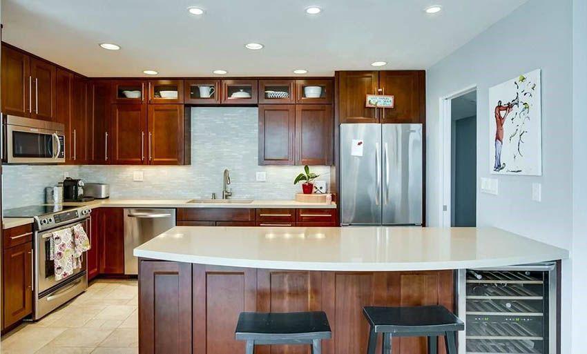 Best Kitchen Paint Colors Ultimate Design Guide Kitchen Cabinet Color Schemes Brown Kitchen Cabinets Brown Kitchens
