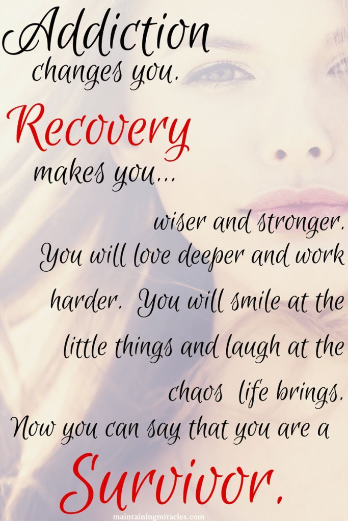 What to say to a recovering drug addict