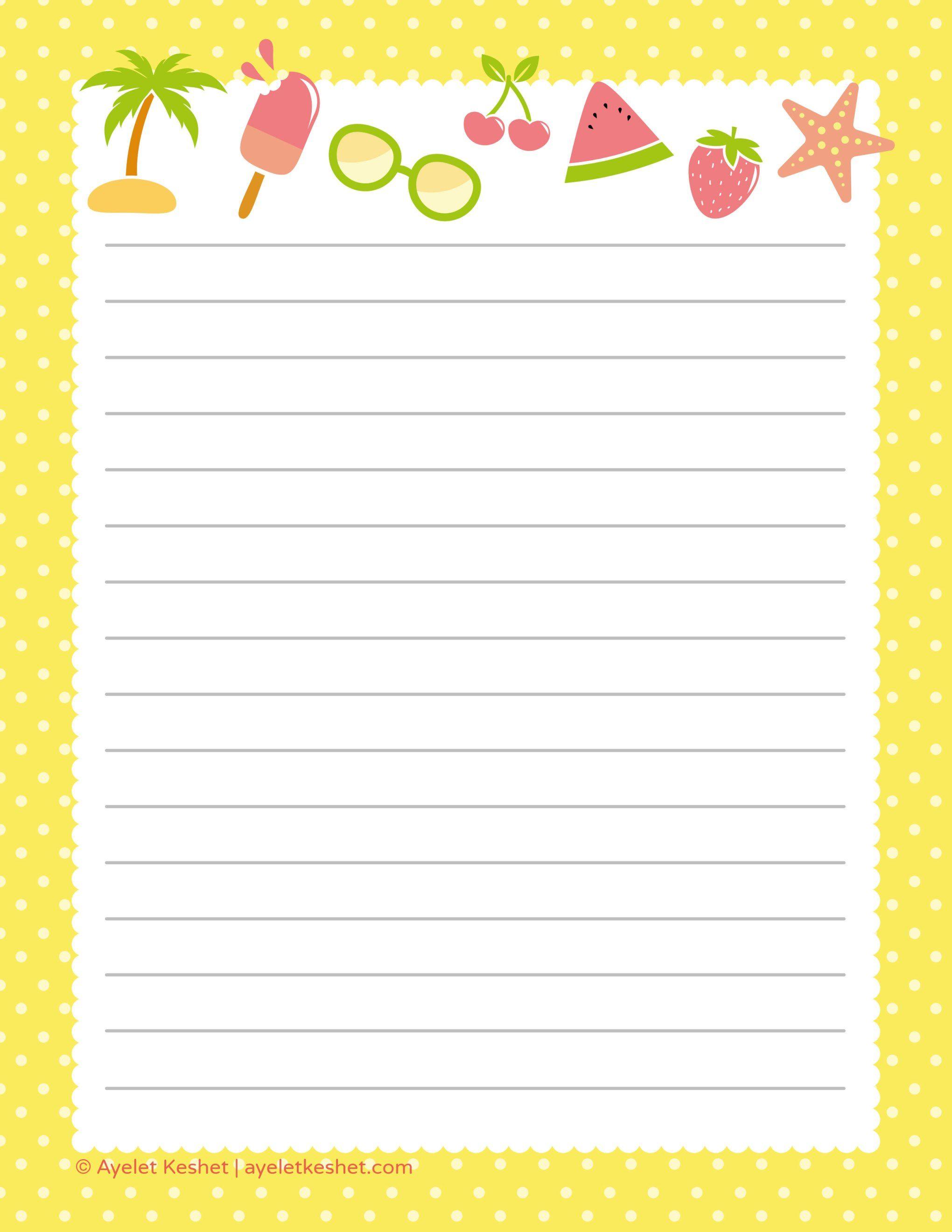 Free Printable Writing Paper Writing Paper Printable Writing