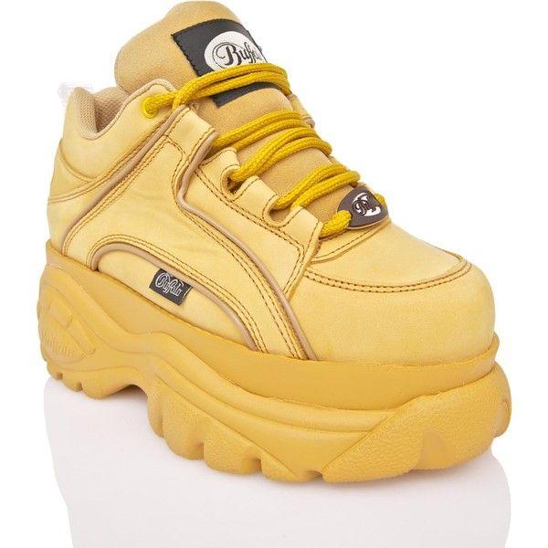 Buffalo Nubuck Beige Platform Sneakers 180 Aud Liked On