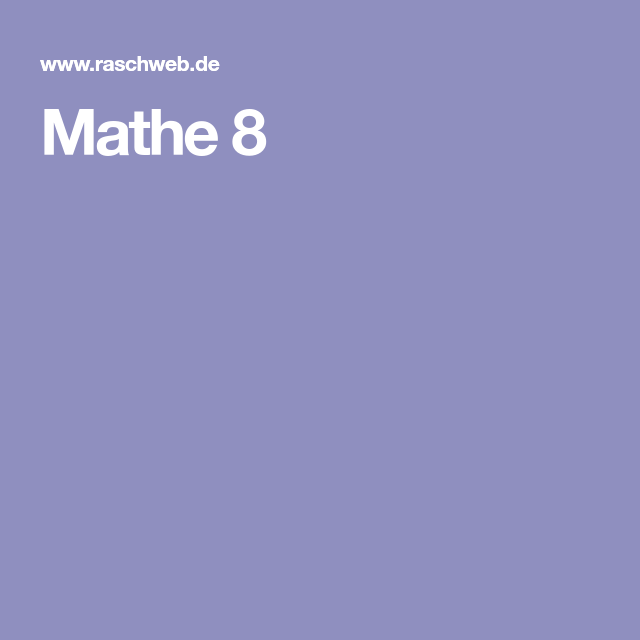 Mathe 8 | Mathematische Funde | Pinterest