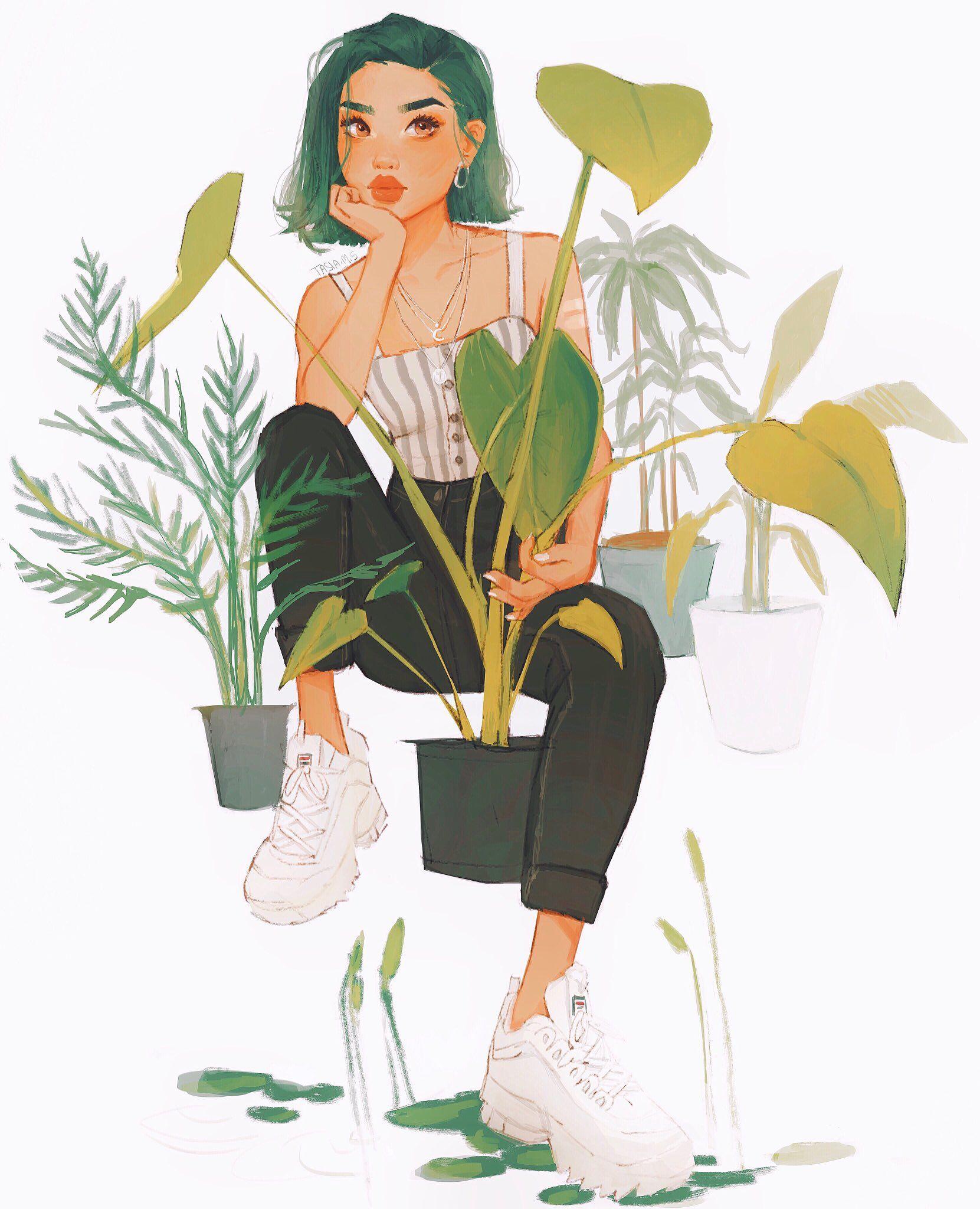 ♡ t a s i a ♡ on -   12 plants Art aesthetic ideas