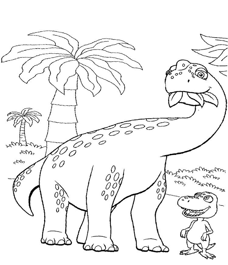 Big Dinosaur Coloring Pages Dinosaur Coloring Pages Train