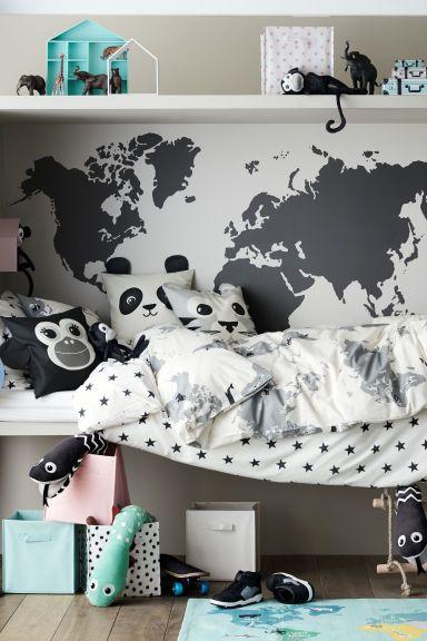 World map duvet cover set duvet bed cushions and room world map duvet cover set gumiabroncs Images