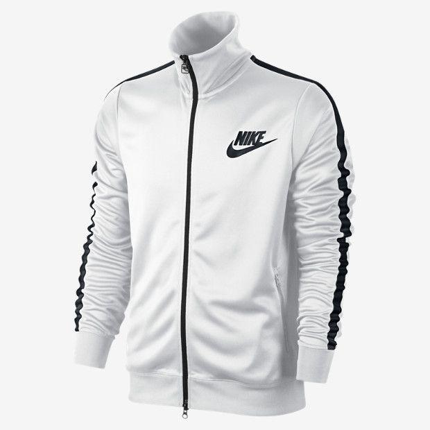 nike sportswear tribute track jacket - black \/ white and crazy
