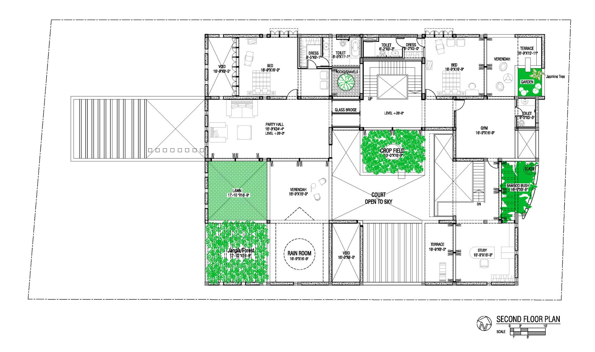 Sa residence by shatotto architects second floor plan for Sa house plans
