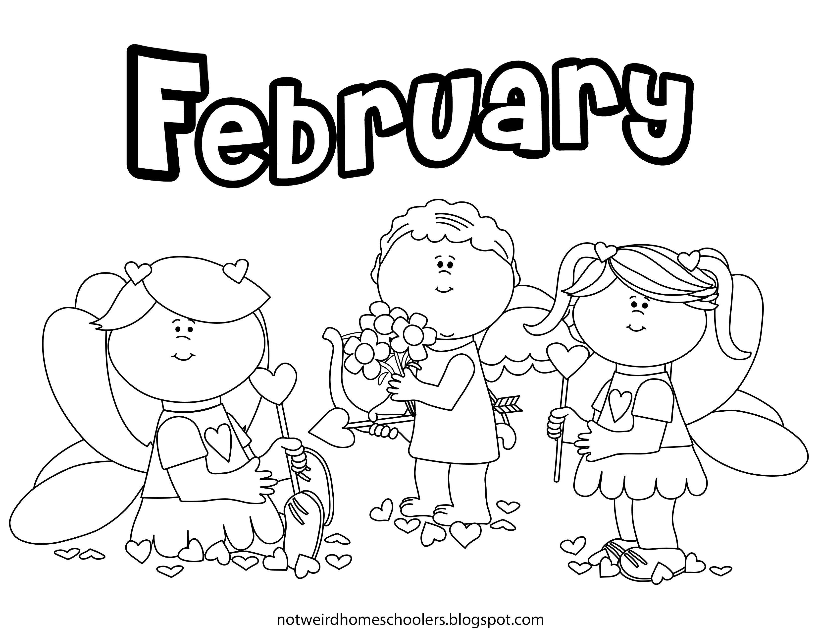 Free Valentines Day February Coloring Page (With images ...