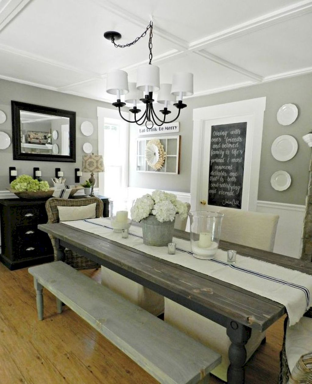 Nice 70 Awesome Modern Farmhouse Dining Room Design Ideas Wholiving