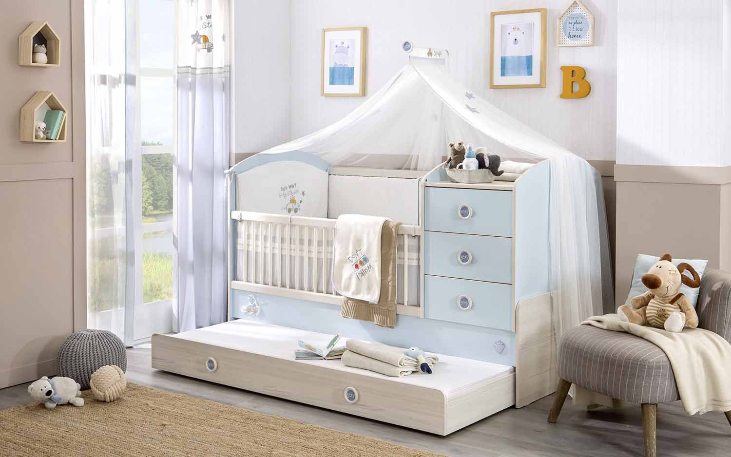 Fairy Cot bed is a traditional princess style cot bed with elegant