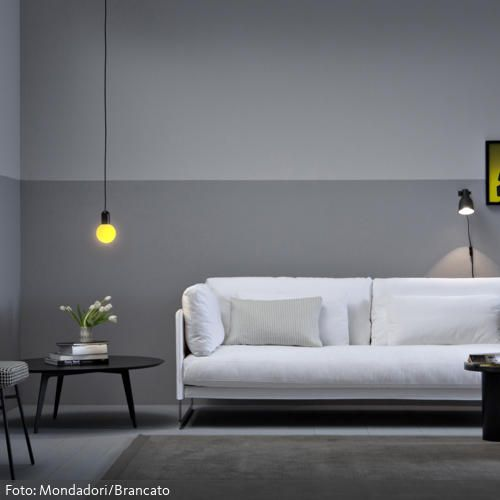 Modernes Wohnzimmer in Grau Construction and Spaces - moderne wohnzimmer couch