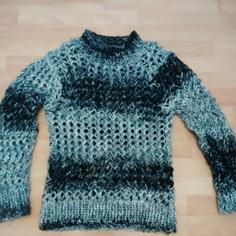 Hand Knitted Punk/Grunge Holey Jumper