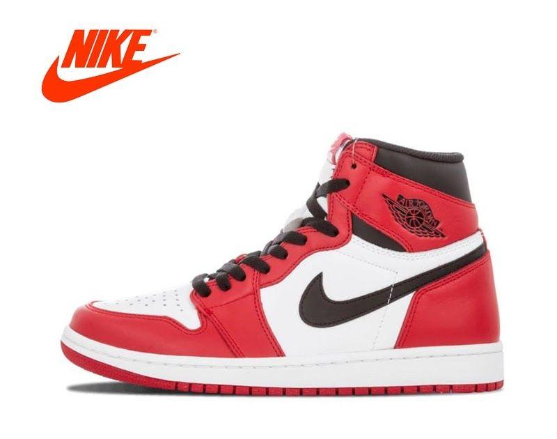 new product fd403 7e789 SALE Official original classic Nike Air Jordan 1 retro senior OG Chicago  breathable men s basketball shoes