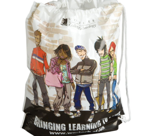 Worcestershire College | Duffle Plastic Bags