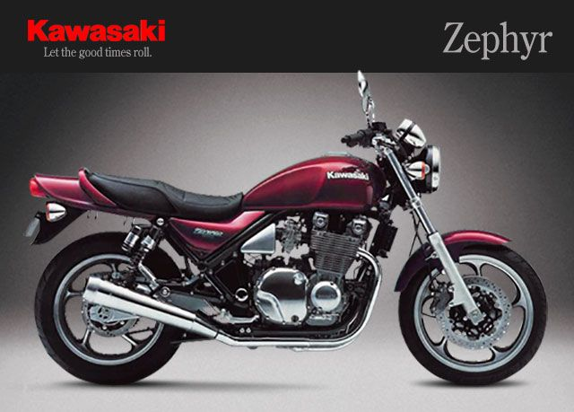 kawasaki zephyr zephyr styling is roughly based on the old kawasaki Kawasaki Logo kawasaki zephyr zephyr styling is roughly based on the old kawasaki z1 with twin shock rear suspension a relatively upright riding position air cooled