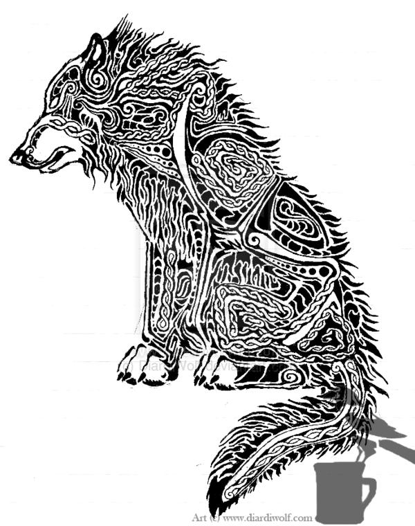 dire wolf tattoo design by diardiwolfdeviantartcom on