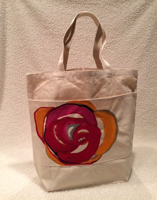 The Tyler Rose Tote by TheArtsyNina on Etsy